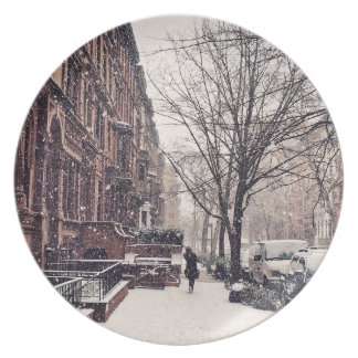 Winter On The Upper West Side Plate