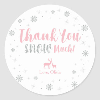 Winter onderland, Thank you snow much sticker