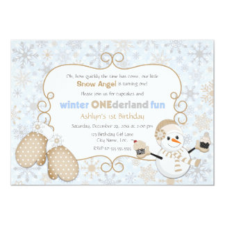 Winter One-derland 1st Birthday Invitation