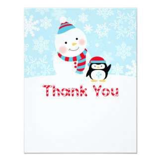 "Winter ONEderland Birthday   Flat Thank You Note 4.25"" X 5.5"" Invitation Card"