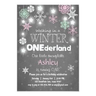 winter birthday invitations announcements zazzle ca