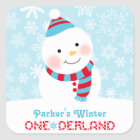 Winter ONEderland Birthday   Snowman Sticker