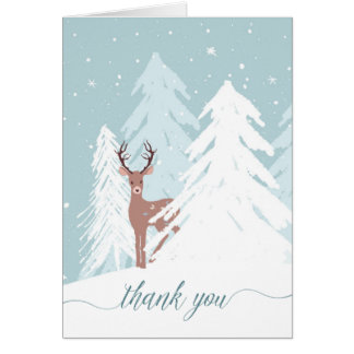 Winter Onederland Birthday Thank You Card Note