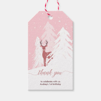 Winter Onederland First Birthday Thank You Tag Pack Of Gift Tags