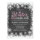 Winter ONEderland Snow Chalkboard 1st Birthday Card