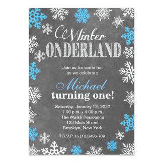 Winter ONEderland Snowflake 1st Birthday Invite