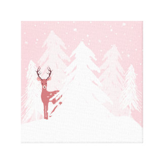 Winter Onederland Wonderland Pink Canvas Print