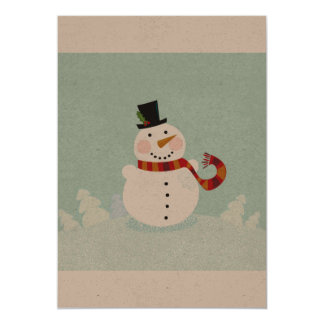 Winter original Greeting with Snowman Card
