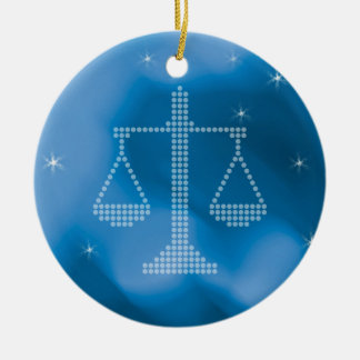 Winter ornament with Scales of Justice