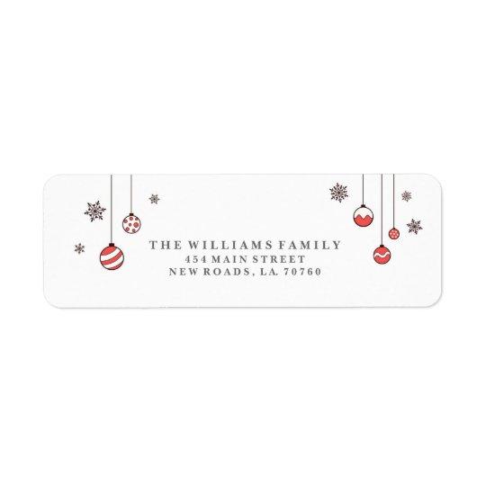Winter Ornaments Christmas Address Labels