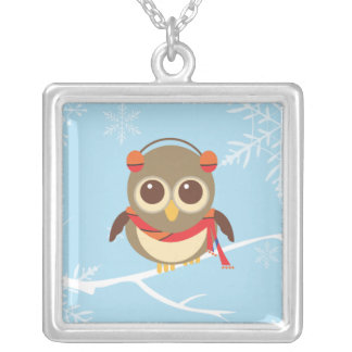 Winter Owl Necklace