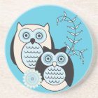 Winter Owls Coaster