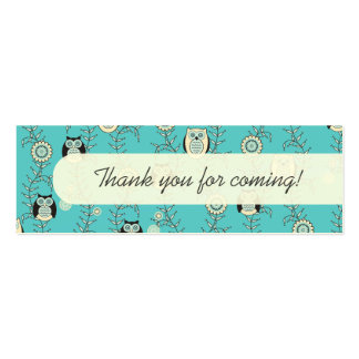Winter Owls Party Favor Tags Business Cards