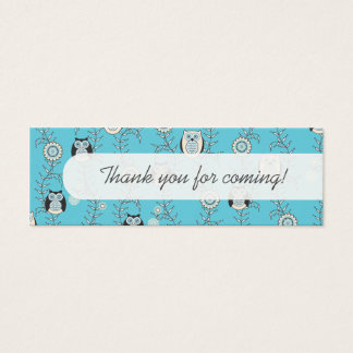 Winter Owls Party Favor Tags Mini Business Card