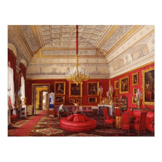 Winter Palace Interiors Postcard