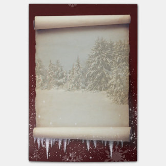 Winter Parchment Illustration - Post-it® Notes