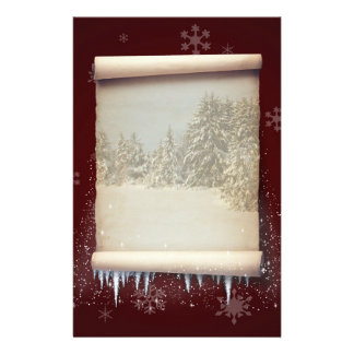 Winter Parchment Illustration - Stationery