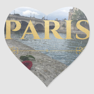 winter paris sticker heart