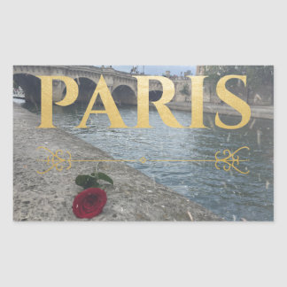 winter paris sticker rectangle