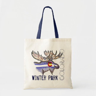 Winter Park Colorado elk reusable bag