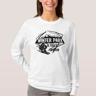 Winter Park Colorado ski elevation logo hoodie