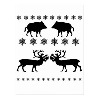 Winter PAttern Postcard