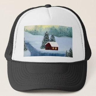 Winter Peace Frozen Ice Snow River Trees Landscape Trucker Hat