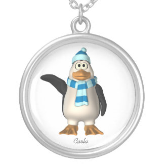 Winter Penguin Necklace