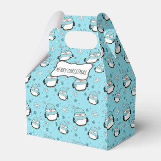 Winter Penguins Gable Favor Box