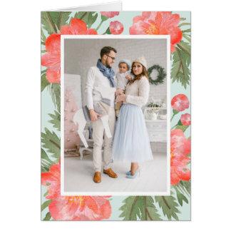 Winter Peony | Holiday Photo Folded Card