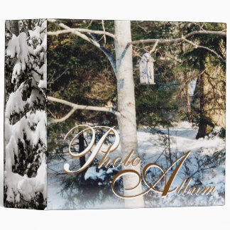 Winter Photo Album Vinyl Binder