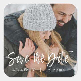 Winter Photo Save the Date Wedding Sticker