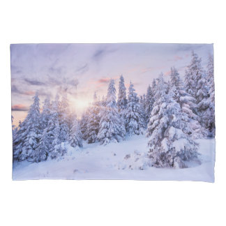 Winter Pine Forest (2 sides) Pillowcase