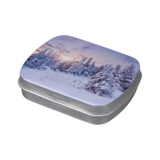 Winter Pine Forest Candy Tin