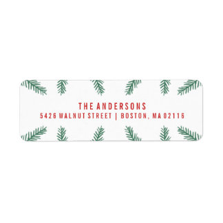 Winter Pine | Holiday Return Address Label