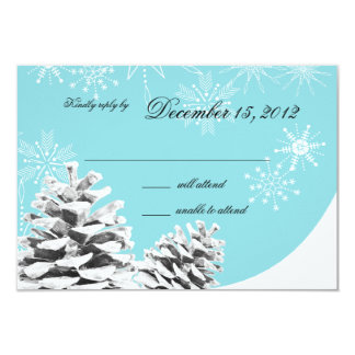 Winter Pinecones and Snowflakes Response Card