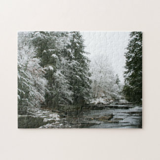 Winter Pines and Creek Puzzle