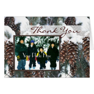 Winter Pines Photo Card