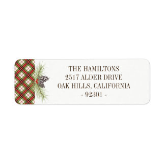 Winter Plaid Personalized Address Label