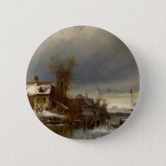 Winter Pleasure - Wintervergnugen 2 Inch Round Button