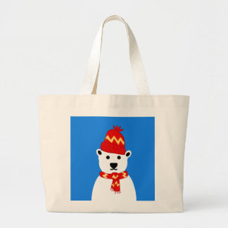 Winter Polar Bear Tote Jumbo Tote Bag