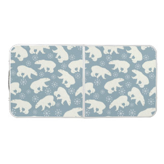 Winter Polar Bears seamless pattern + your ideas Pong Table