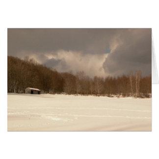 Winter Pole Barn Card