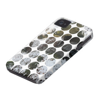 Winter Polka Dots Forest Reflection iPhone 4 Cases