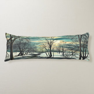 Winter Pond Body Pillow