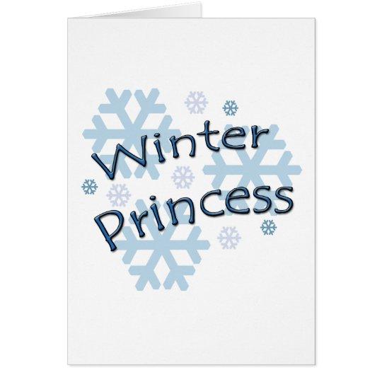 Winter Princess Card