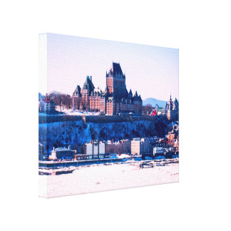 Winter | Quebec City Canvas Print