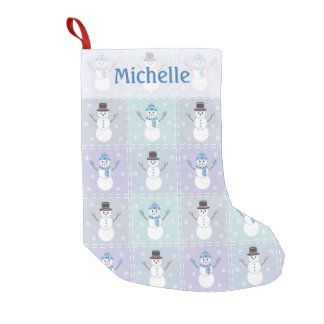 Winter Quilt Christmas Stocking