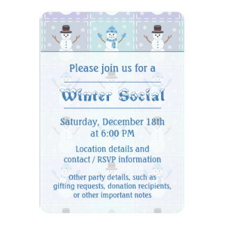 Winter Quilt Party Invitation