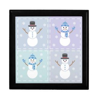 Winter Quilt Tile Box